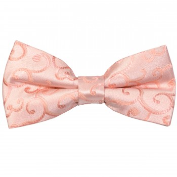 Peach Royal Swirl Wedding Bow Tie #AB-BB1001/2