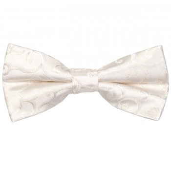 Ivory Royal Swirl Wedding Bow Tie #AB-BB1001/6