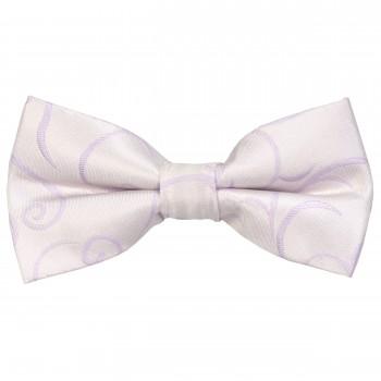 Lilac Modern Scroll Wedding Bow Tie #AB-BB1002/1