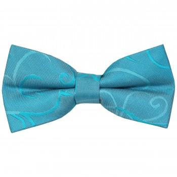 Turquoise Modern Scroll Wedding Bow Tie #AB-BB1002/2