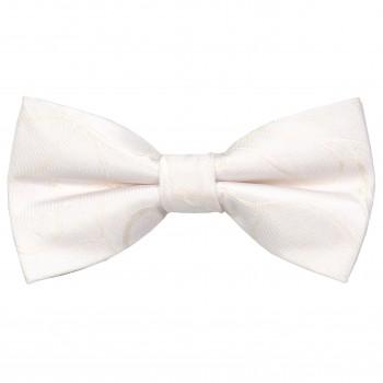 Ivory Modern Scroll Wedding Bow Tie #AB-BB1002/4