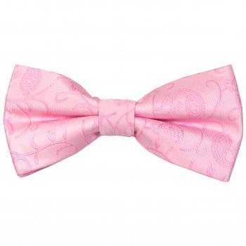 Pink Budding Paisley Wedding Bow Tie #AB-BB1003/2