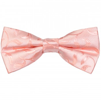 Peach Vintage Vine Wedding Bow Tie #AB-BB1004/3