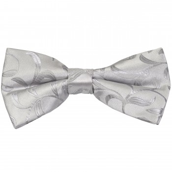 Silver Vintage Vine Wedding Bow Tie #AB-BB1004/5