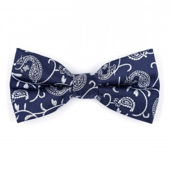 Moonlight Navy Budding Paisley Bow Tie #AB-BB1003/7