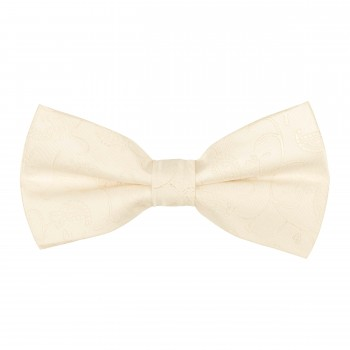 Cream Budding Paisley Bow Tie #AB-BB1003/9