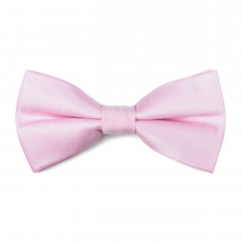 Petal Pink Shantung Bow Tie #AB-BB1005/13