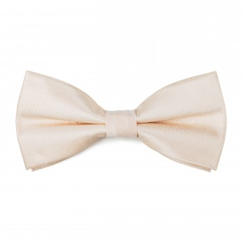 Butter Cream Shantung Bow Tie #AB-BB1005/4