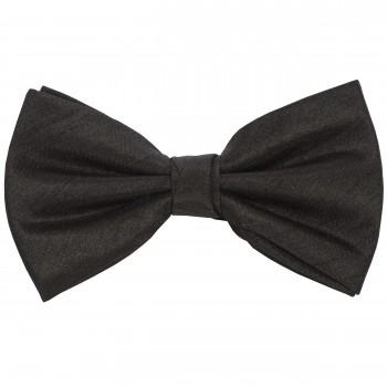 Black Shantung Wedding Bow Tie #BB1864/1