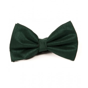 Bottle Green Shantung Bow Tie #BB1864/5 #LAST STOCK