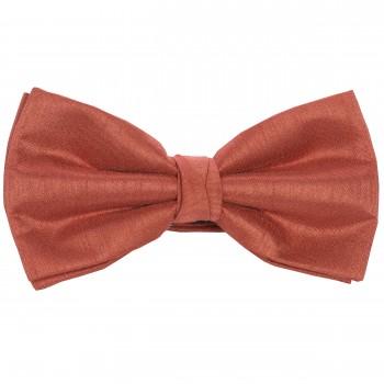 Salmon Pink Shantung Wedding Bow Tie #BB1865/4