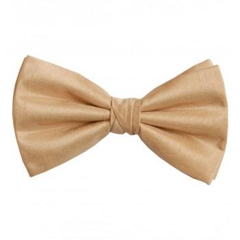 Straw Yellow Shantung Wedding Bow Tie #BB1865/6