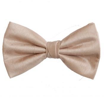Champagne Shantung Wedding Bow Tie #BB1866/5