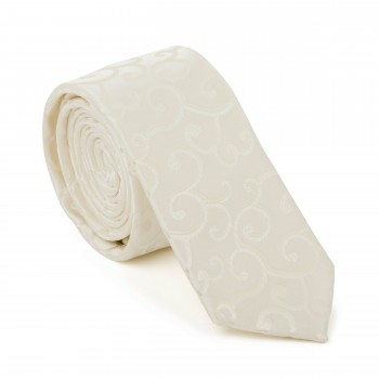 Cream Royal Swirl Slim Tie #AB-C1001/7