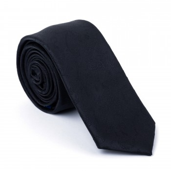 Black on Black Budding Paisley Slim Tie #AB-C1003/4