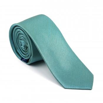 Fog Green Shantung Slim Tie #AB-C1005/11
