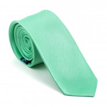 Green Ash Shantung Slim Tie #AB-C1005/15