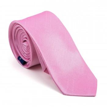 Candy Pink Shantung Slim Tie #AB-C1005/16