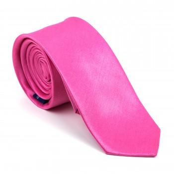 Hot Pink Shantung Slim Tie #AB-C1005/17