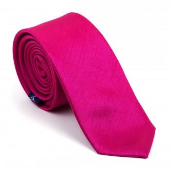 Festival Fuchsia Shantung Slim Tie #AB-C1005/20