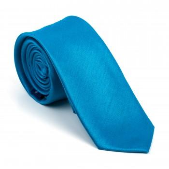 Crystal Teal Shantung Slim Tie #AB-C1005/2