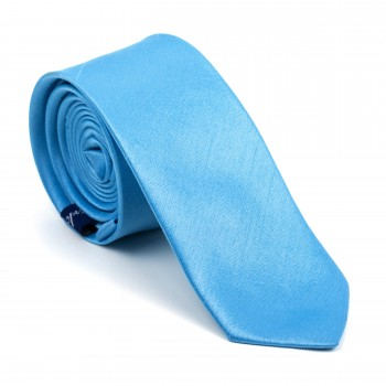 Baby Blue Shantung Slim Tie #AB-C1005/5