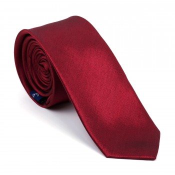 Burgundy Shantung Slim Tie #AB-C1005/7