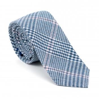 Dutch Blue Check Slim Tie #AB-C1007/5