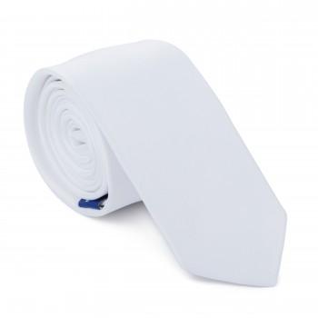 White Slim Tie #AB-C1009/13