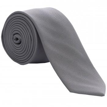 Grey Slim Panama Tie #C1807/1