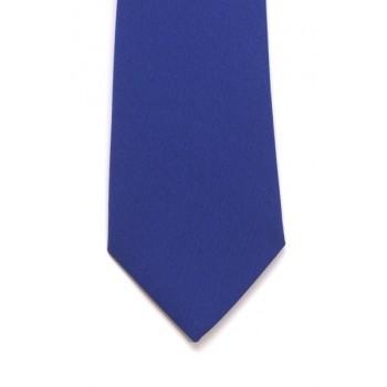 Royal Blue Slim Panama Tie #C1807/2