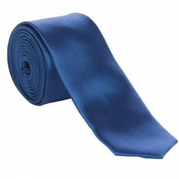 Royal Blue Slim Satin Tie #C1883/3