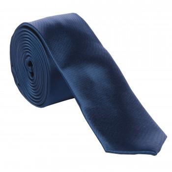 Navy Slim Satin Tie #C1883/5