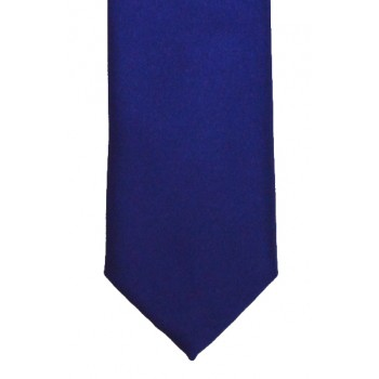 French Navy Slim Satin Tie #C1883/4