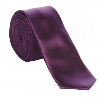 Purple Slim Satin Tie #C1884/4