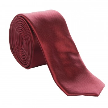 Wine Slim Satin Tie #C1884/6