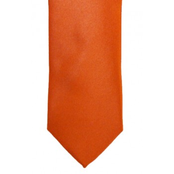 Orange Slim Satin Tie #C1885/4