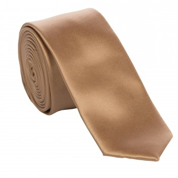 Toffee Slim Satin Tie #C1886/6