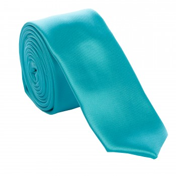 Turquoise Slim Satin Tie #C1887/4