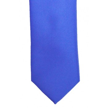 Regatta Blue Slim Satin Tie #C1888/6