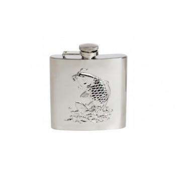 Silver Fish Stainless Steel Hip Flask #HF-05