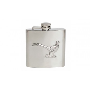 Silver Pheasant Stainless Steel Hip Flask #HF-08