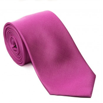 Pink Silk Tie with Yellow Tipping #JT1002/2