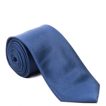 Plain Navy Blue Silk Tie #S5007/3