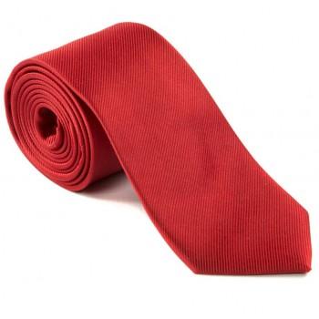 Plain Red Silk Tie #S5007/4
