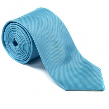 Plain Light Blue Silk Tie #S5008/4