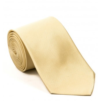 Plain Yellow Silk Tie #S5008/6