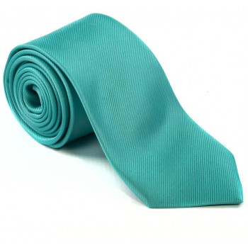 Plain Aqua Blue Silk Tie #S5009/2
