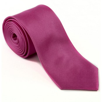 Plain Hot Pink Silk Tie #S5009/3