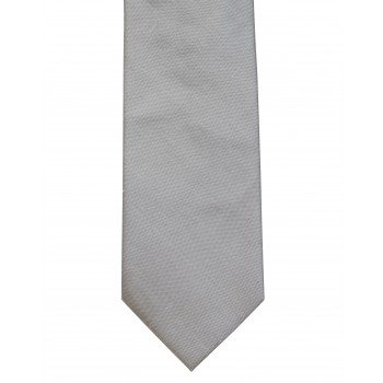 Silver Shantung Silk Tie ((S5016/2))
